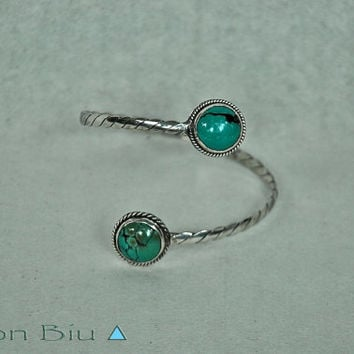 Cuff, Bracelet, Turquoise, Solid 925 Silver, Adjustable Armband or Cuff, Bracelet, Boho, Personalized Jewelry, Body, Arm-band, Armlet