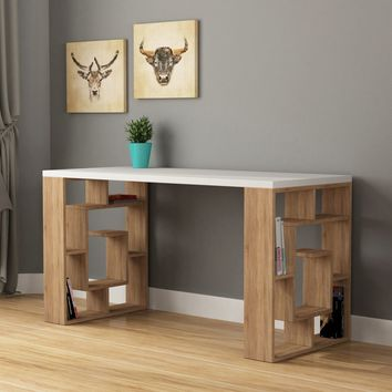 Linus White & Oak Desk