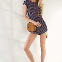 Urban Outfitters Navy Tomboy Playsuit - Urban Outfitters