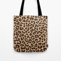 Leopard Print Tote Bag by Smyrna