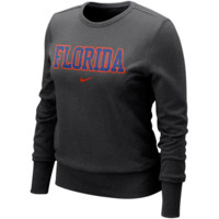 Nike Florida Gators Ladies Vault Comfy Crew Sweatshirt - Charcoal
