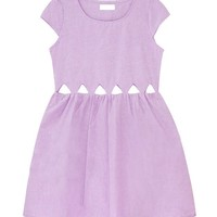 Hollow Out Triangles Dress in Ice-cream Color