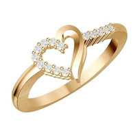 Heart shapped sterling silver wedding Ring For Her with free ship