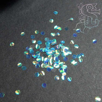 "Iridescent glitter ""Blue dragon scales"" 2mm, nail art, nail gel, nail acrylic, UV resin, resin crafts mermaid scales"