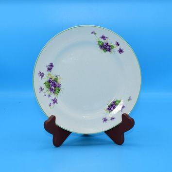 Fondeville Ambassador Ware Salad Plate Vintage Purple Violet Appetizer Plate Made in England 8 Inch Plate Purple Wedding Decor Gift for Her