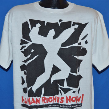 80s Human Rights Now Concert 1988 World Tour Reebok t-shirt Extra-Large