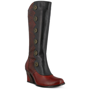 Multi Leather Tall Boot Style Name: HADRIAN-2Colors