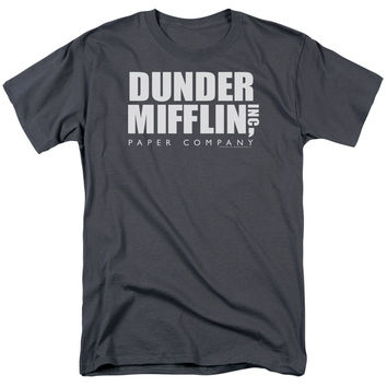 THE OFFICE/DUNDER MIFFLIN - S/S ADULT 18/1 - CHARCOAL -