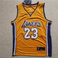 La Lakers #23 Lebron James Yellow Basketball Jersey | Best Online Sale