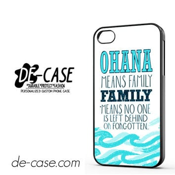 Ohana Means Family Lilo And Stitch For Iphone 4 Iphone 4S Case Phone Case Gift Present