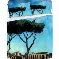 DENY Designs Home Accessories | Belle13 The Cat King Of Rome Sheet Set