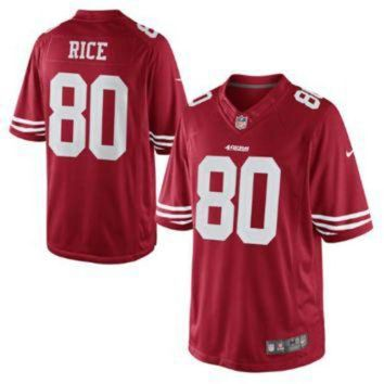 PEAP1N Nike 49ers #80 Jerry Rice Red Team Color Men's Stitched NFL Limited Jersey