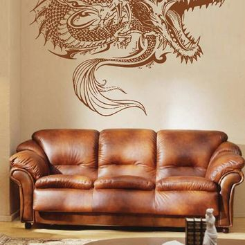ik1590 Wall Decal Sticker Dragon mythical animal living bedroom teens