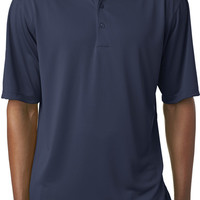 ultraclub(R) men's cool & dry 8 star elite performance interlock polo - navy (4xl)
