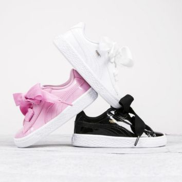 """ PUMA""Women Rihanna Bows White Running Shoes Shoes B"