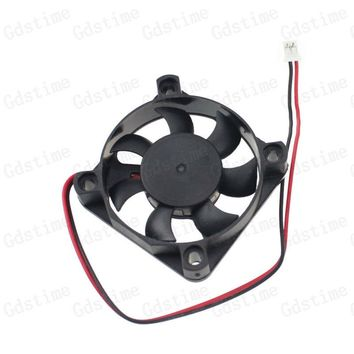 5pcs Lot Gdstime DC 5 Volt 2Pin Industrial Axial Cooler Cooling Fan 5010s 50x50x10mm 50mm 5V