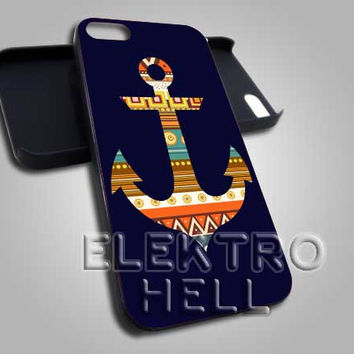anchor navy atwoodting - iPhone 4/4s/5 Case - Samsung Galaxy S3/S4 Case - Black or White