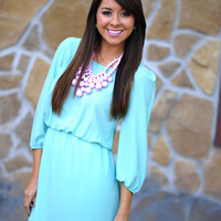 Look At the Skyline Dress: Light Blue | Hope's