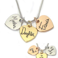 Always and Forever Mother Daughter Charm Necklace
