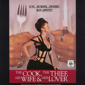 The Cook Thief, His Wife and Her Lover 11x17 Movie Poster (1990)
