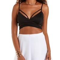 Strappy Wrap Crop Top by Charlotte Russe