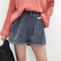 Buy LEMONADE Drawstring Waist Corduroy Shorts | YesStyle