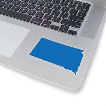 South Dakota State Shape Sticker BLUE