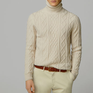 TURTLENECK CABLE-KNIT SWEATER - New - MEN - United States of America / Estados Unidos de América