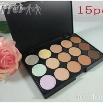 MAC CONCEALER FOUNDATION CREAM 15 COLOR PALETTE MAKEUP