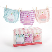 Baby Aspen Baby Cakes Set of Three Cupcake Bloomers