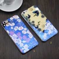 Shining Butterfly Floral Rubber creative case for iPhone 5s 6 6s Plus Gift-84