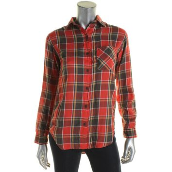 Denim & Supply Ralph Lauren Womens Plaid Long Sleeves Button-Down Top