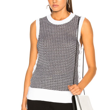 rag & bone Iona Tank in Black & White | FWRD