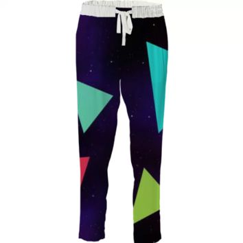 Triangle Space pants created by duckyb | Print All Over Me