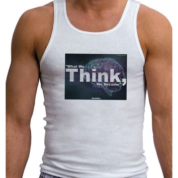 What We Think Buddha Mens Ribbed Tank Top