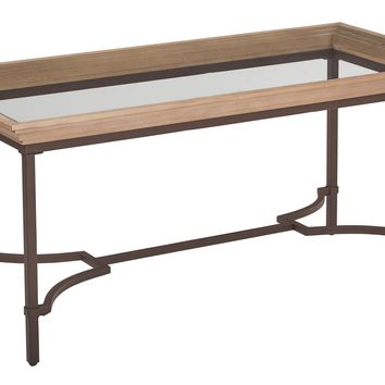 Office Star Light Pine Tacoma Coffee Table