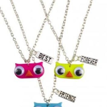 Bff Googly Eye Owl Necklaces | Girls Jewelry Accessories | Shop Justice