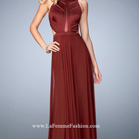Open Back Sleeveless Long Prom Dress by La Femme