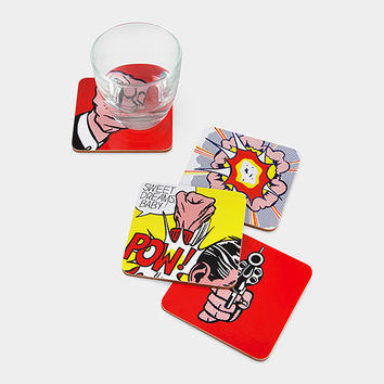 Roy Lichtenstein: Comics Coasters