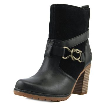 Timberland Dennett Ankle Women  Round Toe Suede Black Ankle Boot (Size: 9.5, Color: Black)