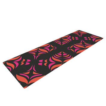 "Miranda Mol ""Orange on Black Tile"" Yoga Mat"