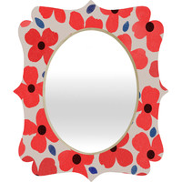 Garima Dhawan Dogwood Red Quatrefoil Mirror
