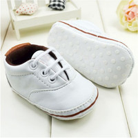 Unisex Baby Soft Sole Pram Crib Shoes Toddler PreWalker Leather Sneakers 0-18M Free &Drop shipping