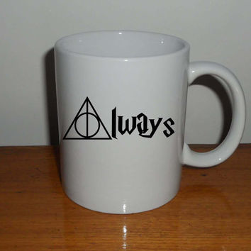 always deathly hallows harry potter design Mug cup best quality materials ceramic by cegeMUG