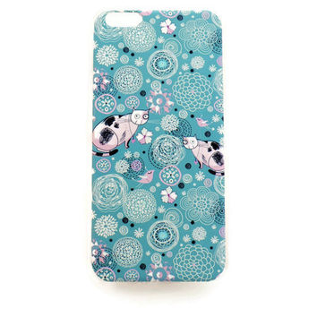 iPhone 6 Plus Case Cute Cat Pattern iPhone 6 Plus Hard Case Retro Back Cover For iPhone 6 Slim Design Case Scrapbook