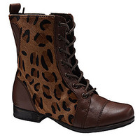Betsey Johnson Leopard-Print Boots