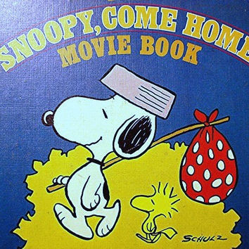 1970s Peanuts Book 1st Edition Snoopy Come Home Movie Book Charles Schulz Peanuts Gang Storybook
