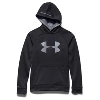 Under Armour Storm Armour Fleece Big Logo Hoodie for Boys in Black 1259690-003