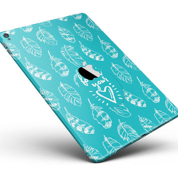 "Follow Your Heart Feathers Full Body Skin for the iPad Pro (12.9"" or 9.7"" available)"
