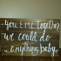 Rustic You and Me Together Sign, Rustic Wedding Sign,  Rustic Country Wedding Decor, Barn Wedding Decor, Country Wedding Sign, Rustic Home